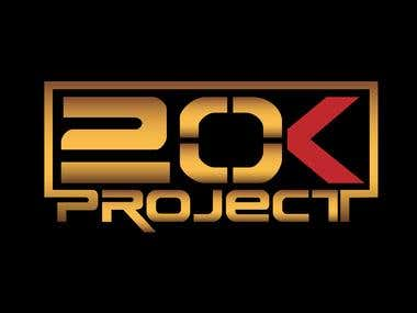 Logo for 20 k Project.