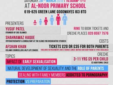 Flyer for England Al Noor School
