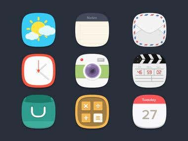 Freebie icon set