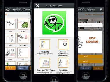 Stick Messaging - iPhone APP
