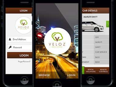 Veloz Rental System - iPhone & Android APPs