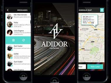 Adidor Taxi - iPhone & Android APPs