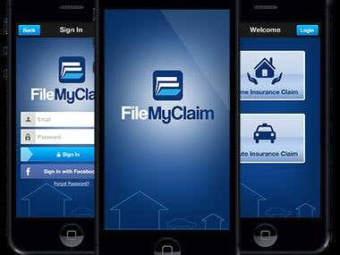 File My Claim - iPhone & Android APPs
