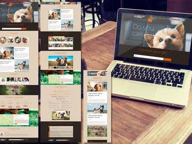 Dogs Kennel Site PSD Template