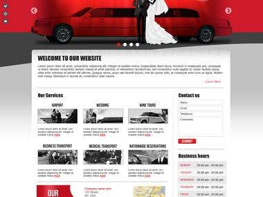 Website design for hiring limo car