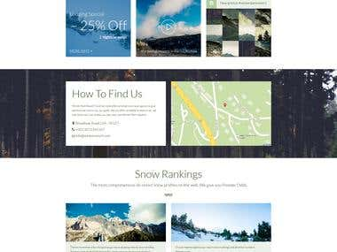 Winter Resort - Psd Template