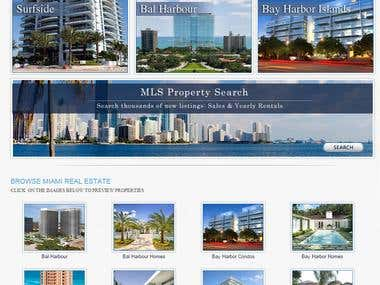 A Custom php based real-estate site