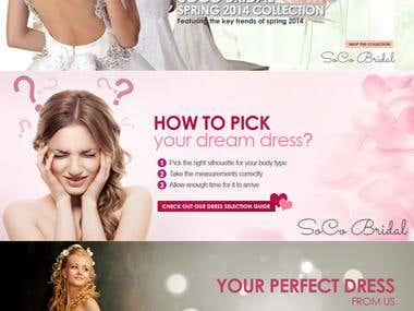 Wedding dress banner