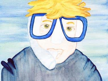 Gavin underwater