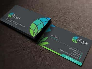 Design some Business Cards for IT Zen
