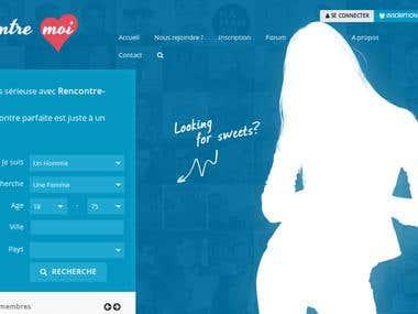 Site de rencontre - Dating website