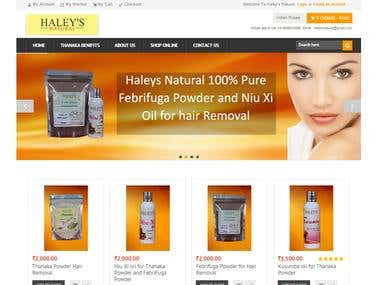 Magento Project-Www.haleysnatural.com