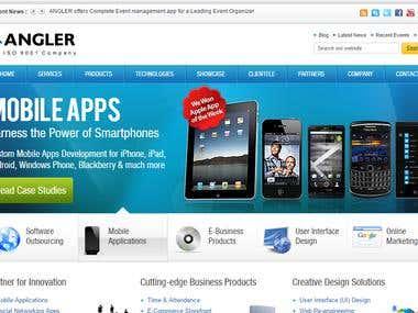 Angler IT Company website