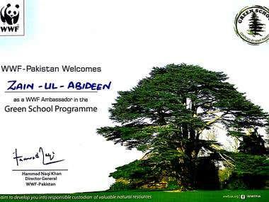 World Wildlife Federation Ambassador Pakistan
