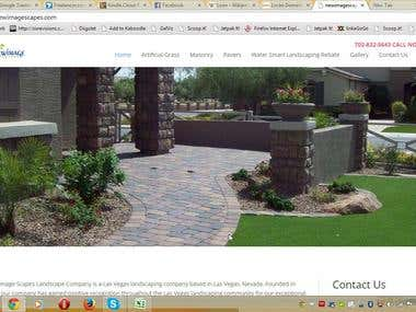 Landscaping Business related WordPress website.