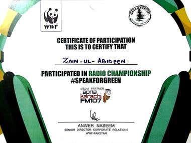 World Wildlife Federation Speak For Green Program
