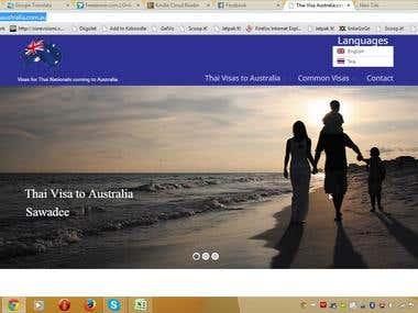 Visa Company WordPress website.