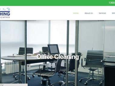 WordPress website about office & Commercial Cleaning