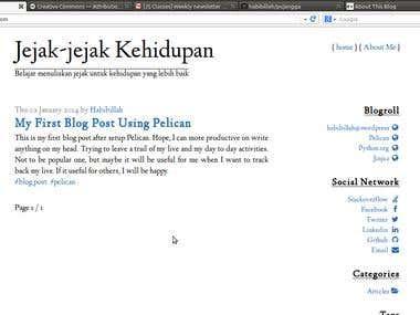 Pujangga - another Pelican site generator theme