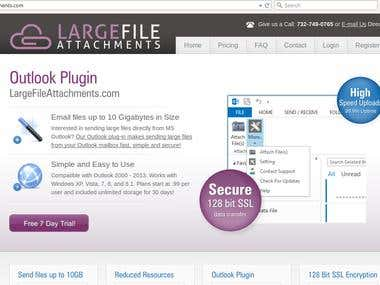 Large File Attachments - SaaS and MS Outlook plugins