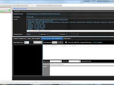 FFMPEG Video Quality Check Client/Server System
