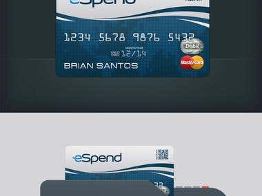 Debit Card Design for eSpend