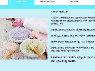 Product Descriptions for Artisan Bath Products
