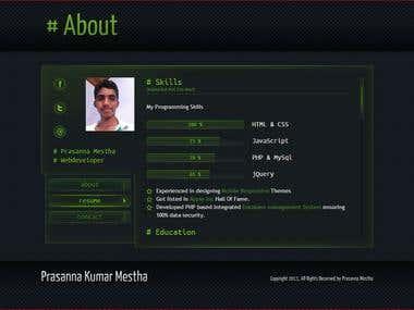 My Online Resume Website