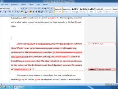 Proofreading Thesis