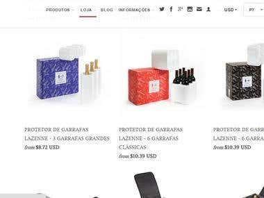 Lazenne website and online shop EN-PTbr
