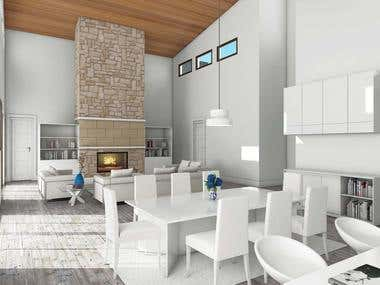 House interior render for an USA client
