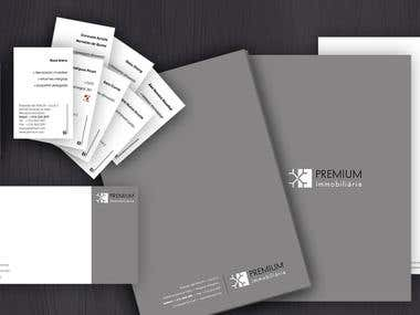 Graphic identity developed for Premium real estate