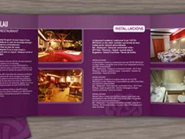 Brochure designed for Micolau Hotel