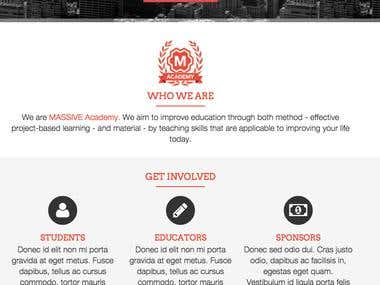 Webpage for the NGO site