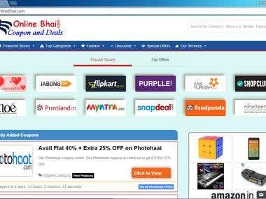 Online Bhai Coupon Site based on Premiumpress Coupon Theme