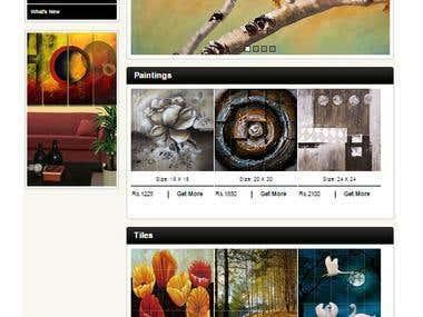 Website of art gallery