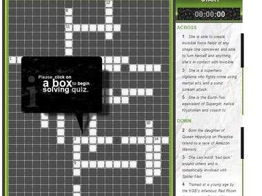 Dynamic crossword generator and Engine