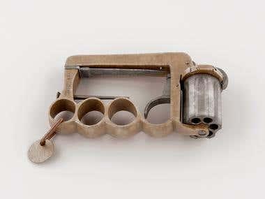 Brass knuckles Apache Revolver