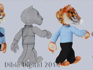 Tiger Mascot Model
