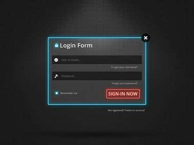 Login form Flash with PHP