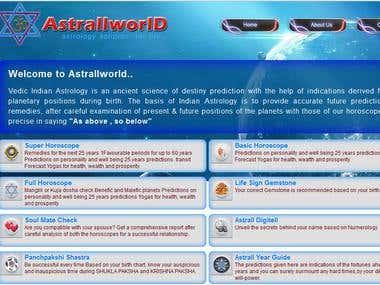 Astrallworld.com development
