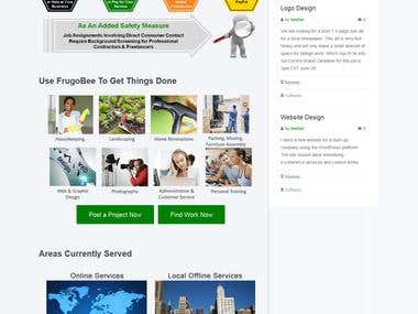 Classified Ads Website    Freelance Type Wordpress Site