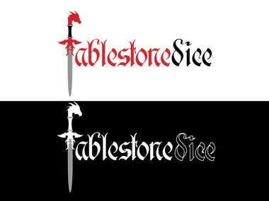 FableStone Dice Logo Concept