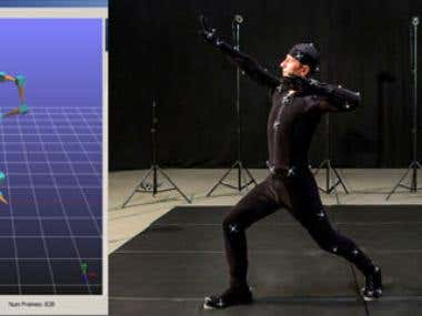 Animation games with MOCAP