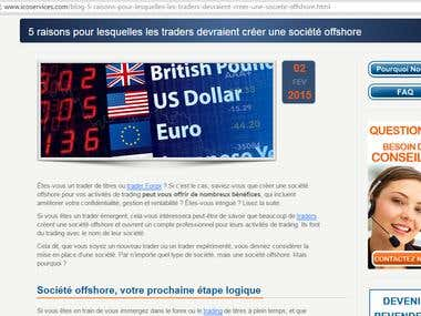 English-French translation on offshore trading