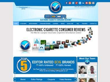 Massive Overhaul/Site Creation of ElectronicCigaretteConsume