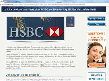 English to French translation on offshore banking