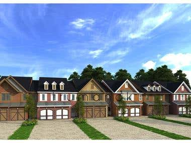 Townhouses rendering 2