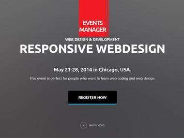 Event manager website