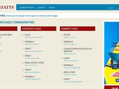API Based PHP Website Design and Development -CrimeStatts